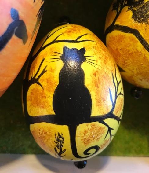 1 Katze Ei Osterei Schatten