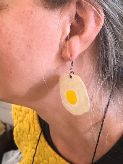 1 Osterbörse Ohrring Spiegelei