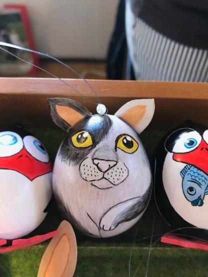 1 Osterei mit Ohren Katze 2